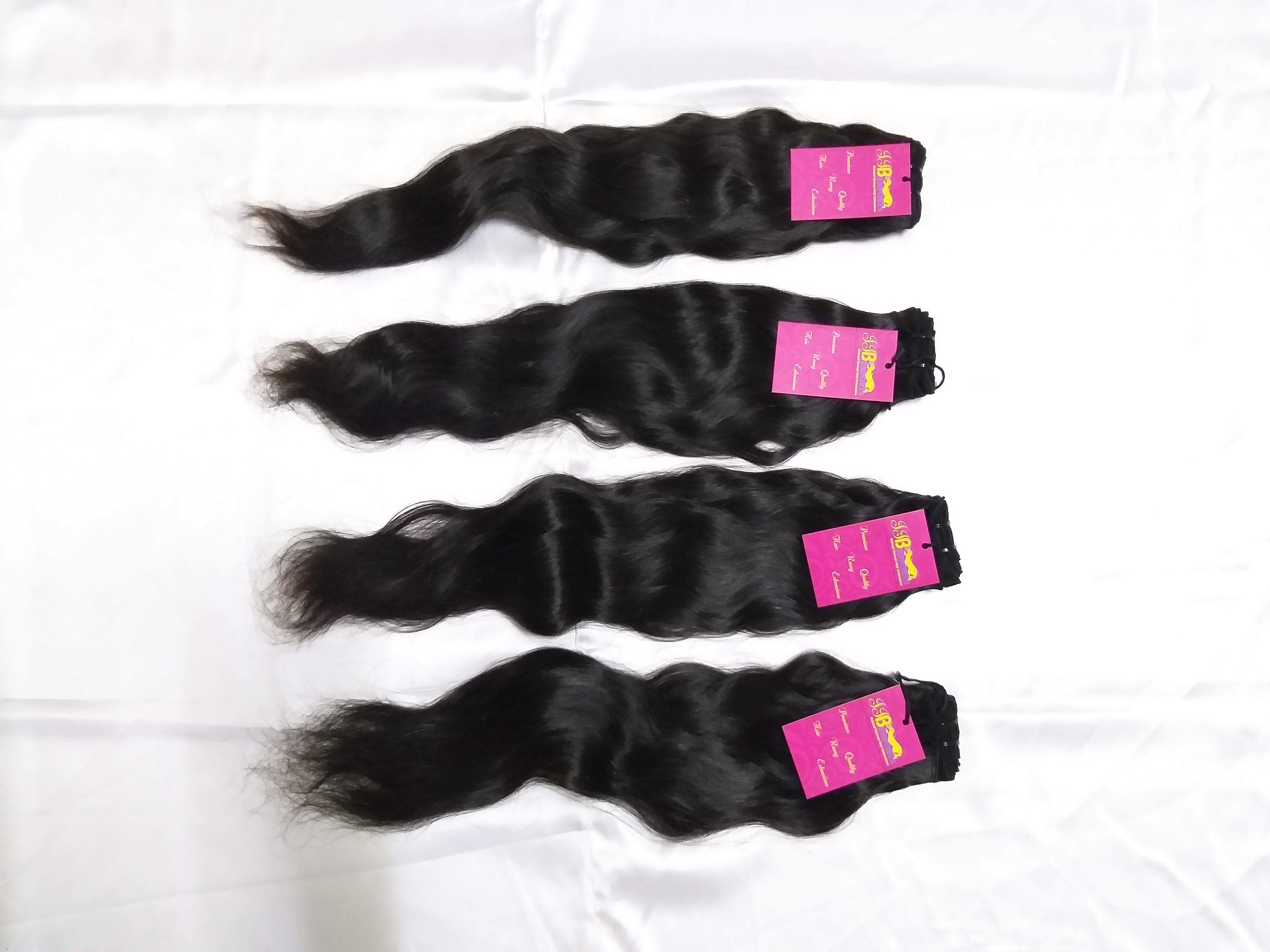 Human Hair Wavy Weft Hair Extensions 10a Grade Virgin Remy Human Hair Bundle