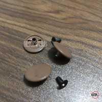 Mild Steel Tich Buttons Brown