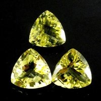 4mm Lemon Quartz Faceted Trillion Loose Gemstones