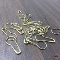 Brass-Steel Bulb Shape Pins Golden