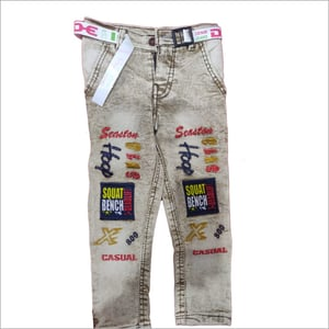 Boys Embroidered Jeans