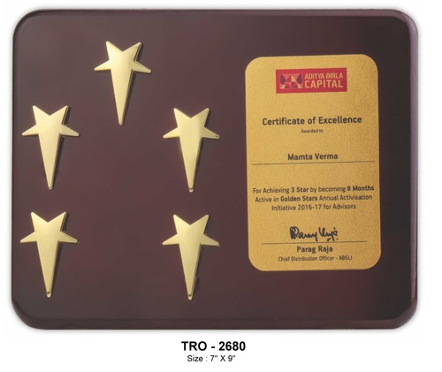 5 Star Plaque