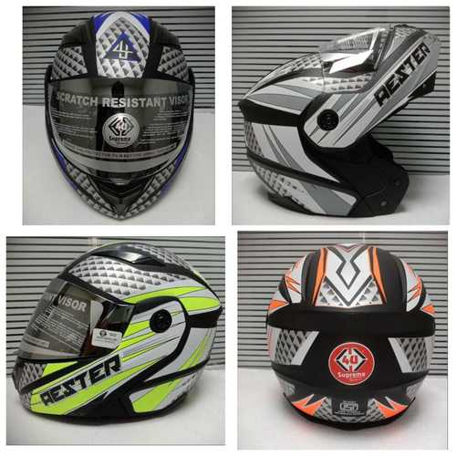 Folding helmet DX WITH MIRROR VISOR