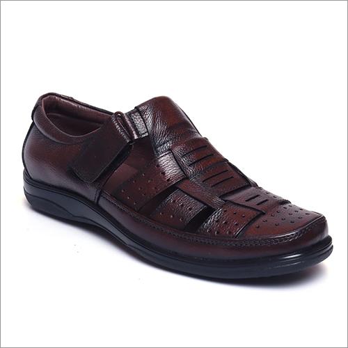 Mens Chestnut Brown Leather Sandals