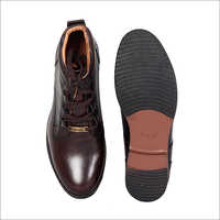 Mens Brown High Ankle Shoes