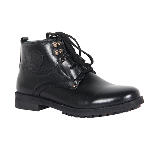 Mens Midnight Black High Ankle Boots