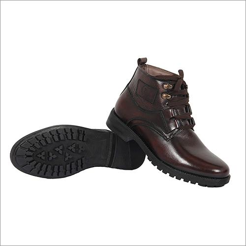 Mens Plain High Ankle Boots
