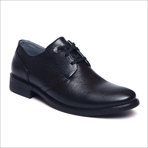 Mens Charcoal Black Lace Up Shoes
