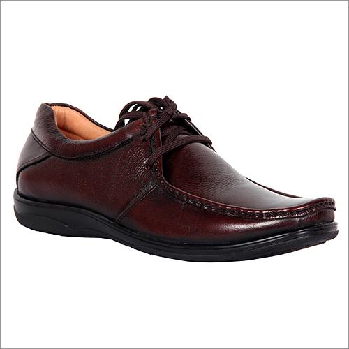 Mens Medium Brown Lace-Up Shoes Pair