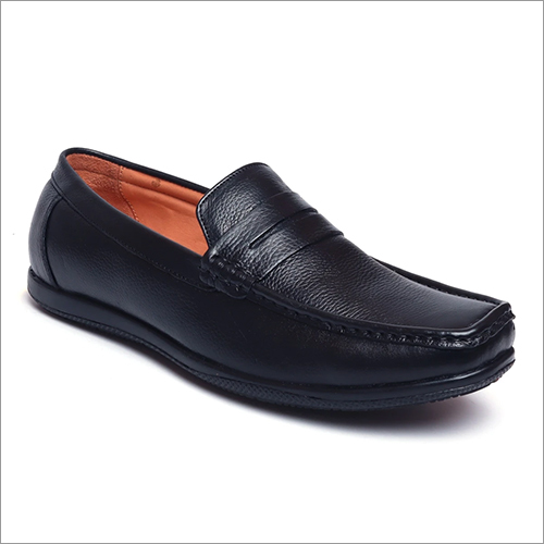 Mens Black Classic Slip Ons Loafers