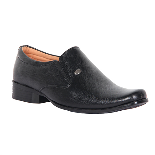 Mens Charcoal Black Formal Slip Ons Loafers