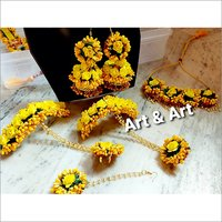 Ladies Floral Jewellery Set