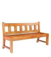 Solid Wood Bench With Back Rest.