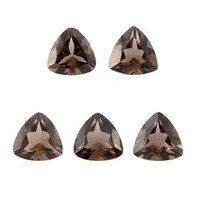 10mm Smoky Quartz Faceted Trillion Loose Gemstones
