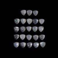 5mm White Moonstone Trillion Cabochon Loose Gemstones