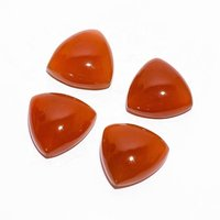6mm Carnelian Trillion Cabochon Loose Gemstones