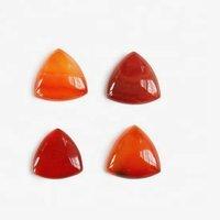 10mm Carnelian Trillion Cabochon Loose Gemstones