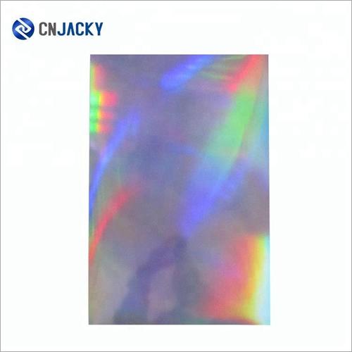 Offset Sillkscreen Printing 300 micron Hologram Rainbow PVC Sheet for High Class Business Card