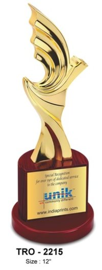 Gold Plated Metal Trophy