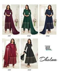 Dholna Vol 1 Rayon Plain Sequence Work Kurti Catalogue
