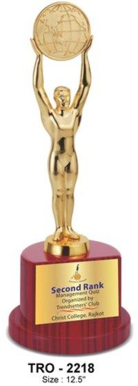 Golden Metal Globe Trophy