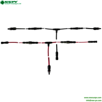Solar cable assembly 2 to 1 TUV PV4.0 T type for PV System