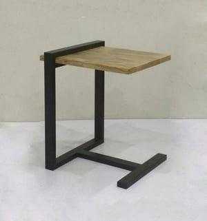 Metal Stand Wooden Top DACcor Side Table