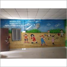 School Wall Mural Painting