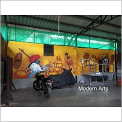 Restaurant Wall Mural Painting
