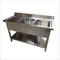 Double Bowl Sink Undershelf