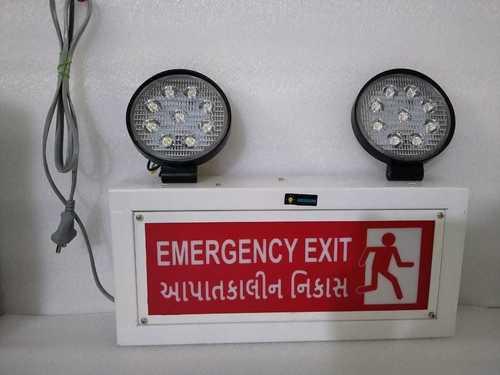 EMERGENCY EXIT LIGHT ENGLISH & GUJARATI