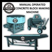 MANUAL OPERATED CONCRETE BLOCK MAKING MACHINE
