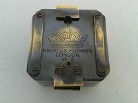 SOLID BRASS KELVIN & HUGHES 1917 BRUNTON BLACK ANTIQUE
