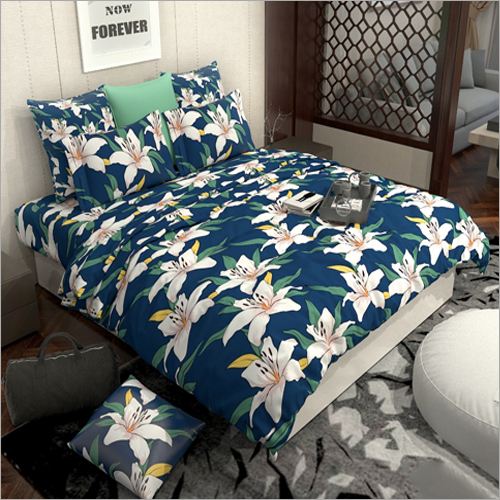 Flower Printed Cotton Bed Sheet