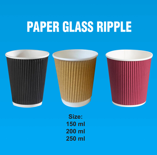 Paper Glass With Ripple Wall