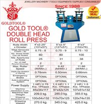 double head rolling mill Jewelry Wire And Sheet Rolling Machine  Gold Tool