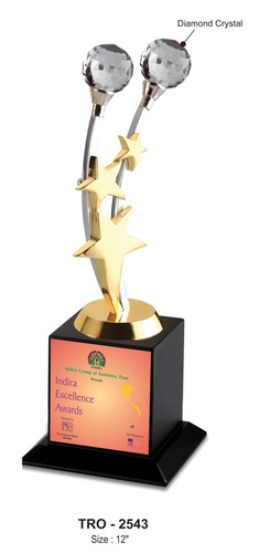 Star Trophy With Diamond Crystal