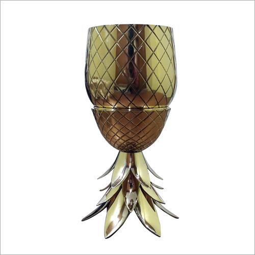 Brass Pineapple Glass