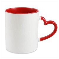 Heart Handle Plain Mug