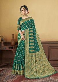 Molki By Triveni Saree Art Silk Party Wear Woven Saree Catalog