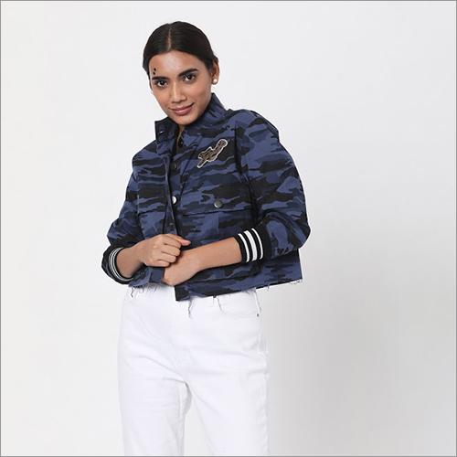 Washable Blue Military Jacket