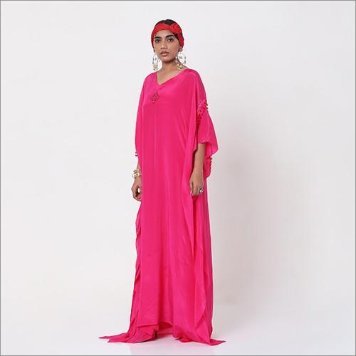 Pink Embroidered Kaftan
