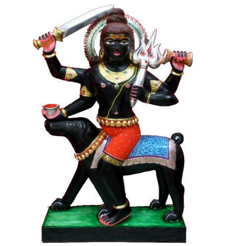 Black Marble Bherav Statue