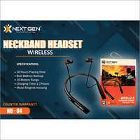Wireless Neckband Headset