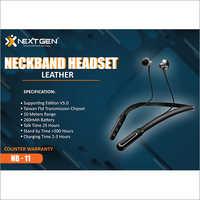 Leather Neckband Headset
