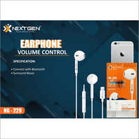 Volume Control Earphone