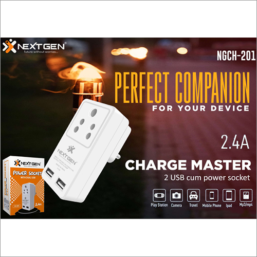 2.4 AMP Charger With Power Socket