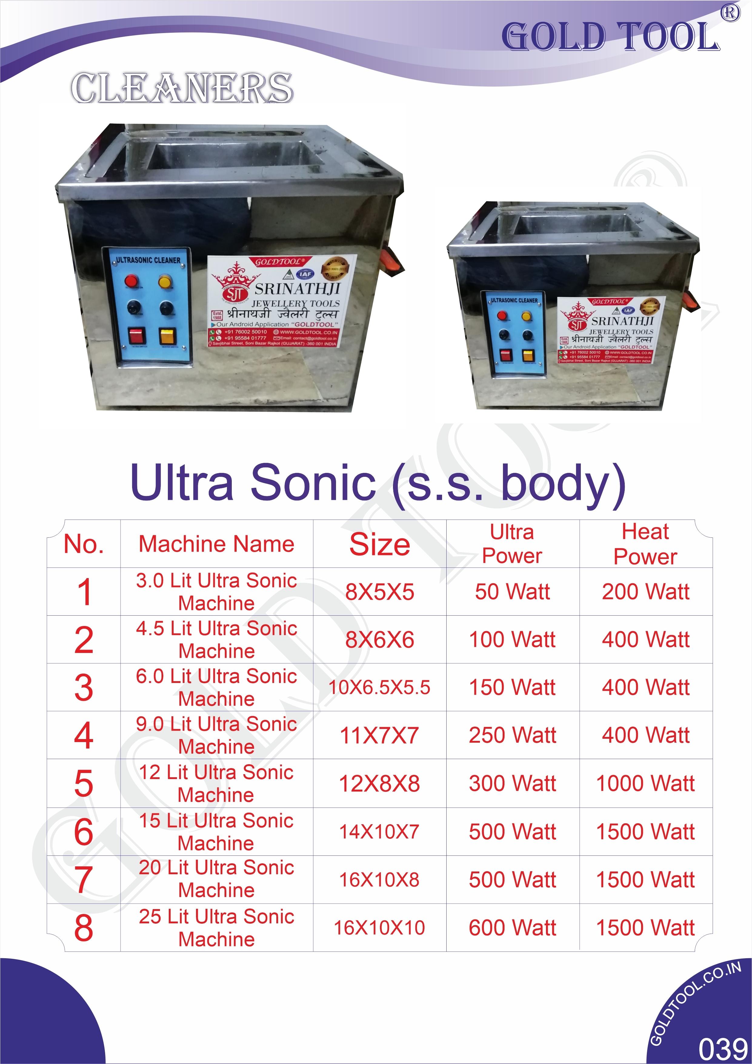 Jewelry Ultrasonic Machine