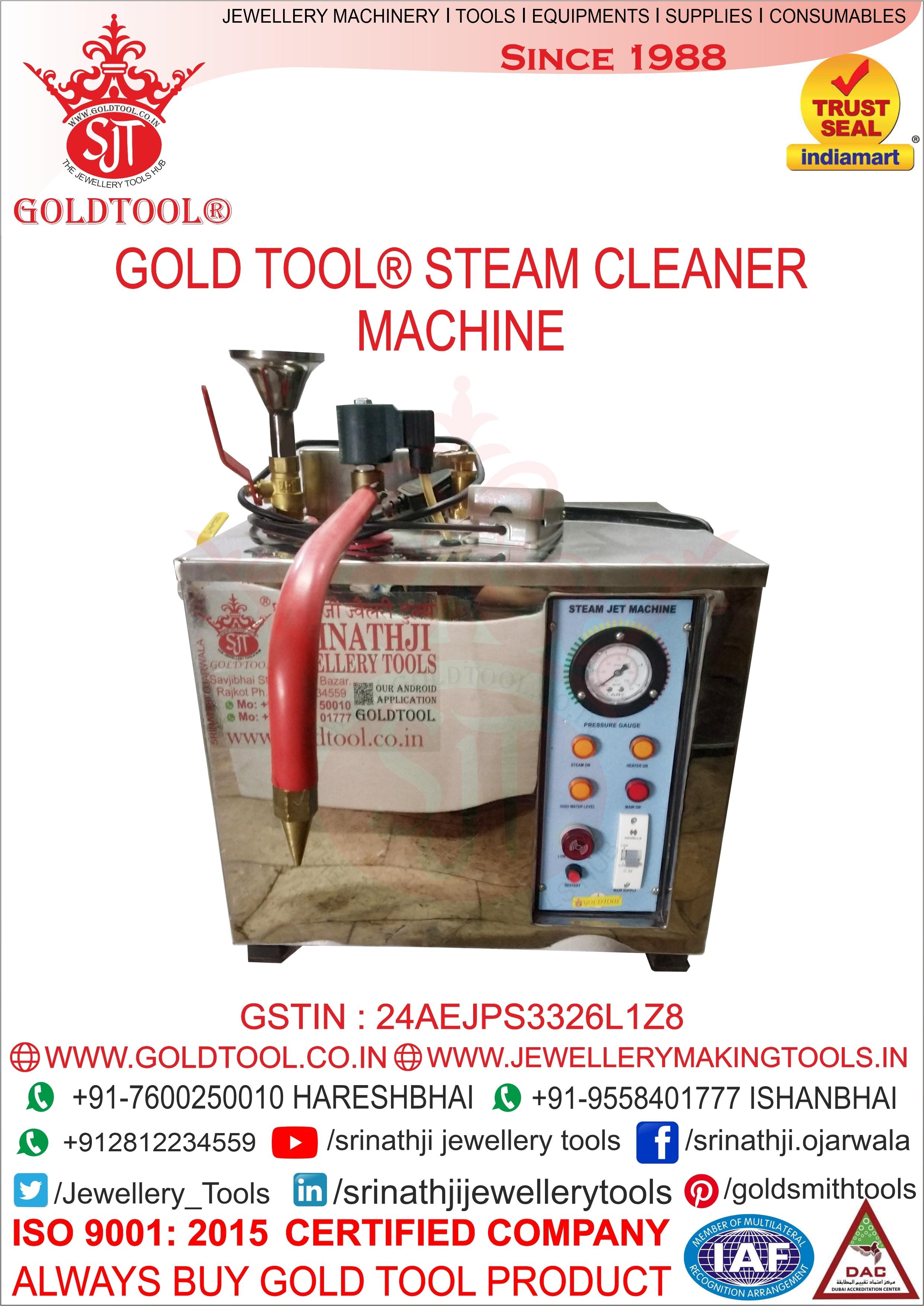 Jewellery Steam Cleaner Machine