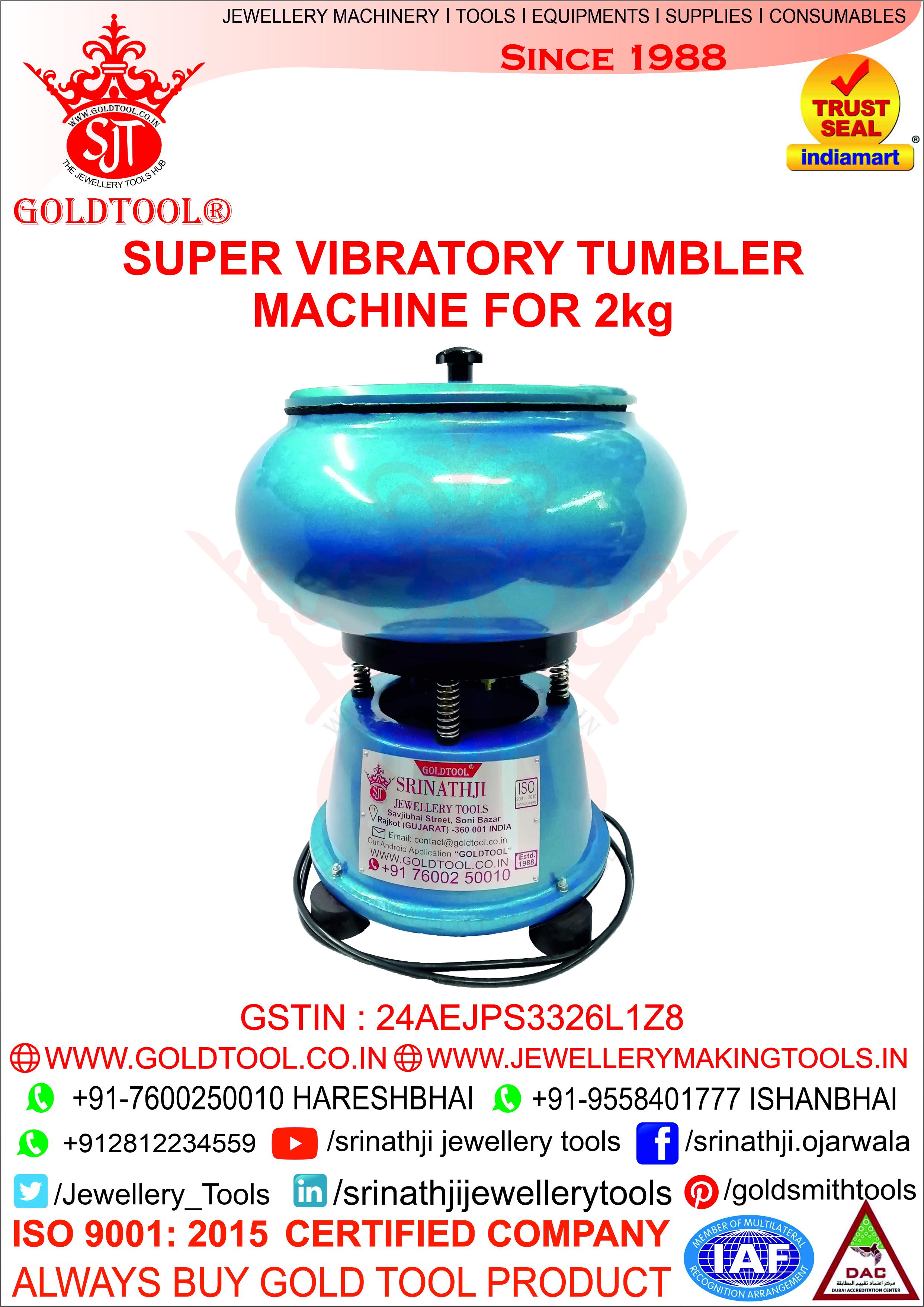 Jewelry Polish Machine Vibratory Tumbler Machine